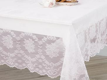 Rose Branch Table Cloth 180x270 Cm Light Pink