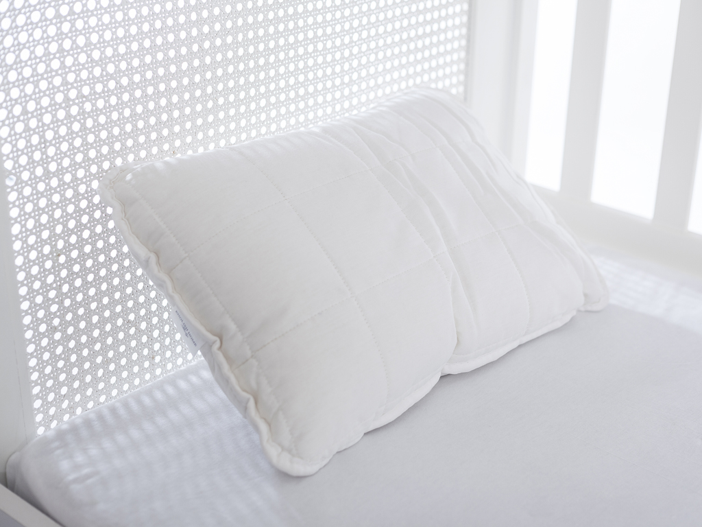 Comfy Cotton Baby Pillow 35x45 Cm White