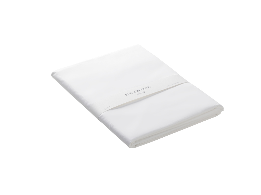 Plain Cotton Double Size Bed Sheet 240x260 Cm White