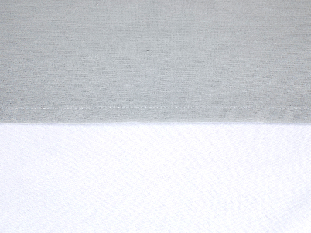 Plain Cotton Bed Sheet Double Size 240x260 Cm Gray