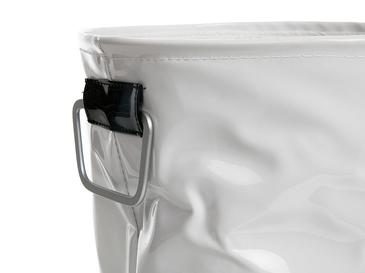 Glam Pvc Laundry Basket 32x36 Cm White