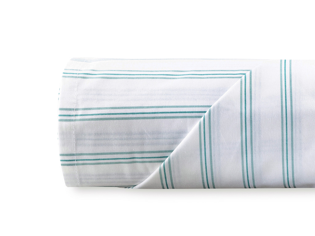Summer Stripe Bed Sheet Single Size 160x240 Cm Seledon
