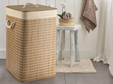 Urbann Foldable Laundry Basket 35x35x60 Cm Brown