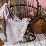 Tiles Chair Shawl 120x160 Cm Damson