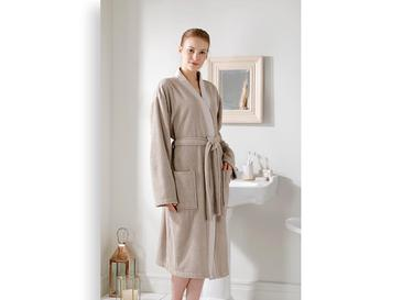 Intense Women's Bathrobe L-XL Dark Beige