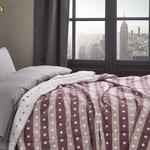 Dotty Cotton Blanket Single Size 150x200 Cm Pink