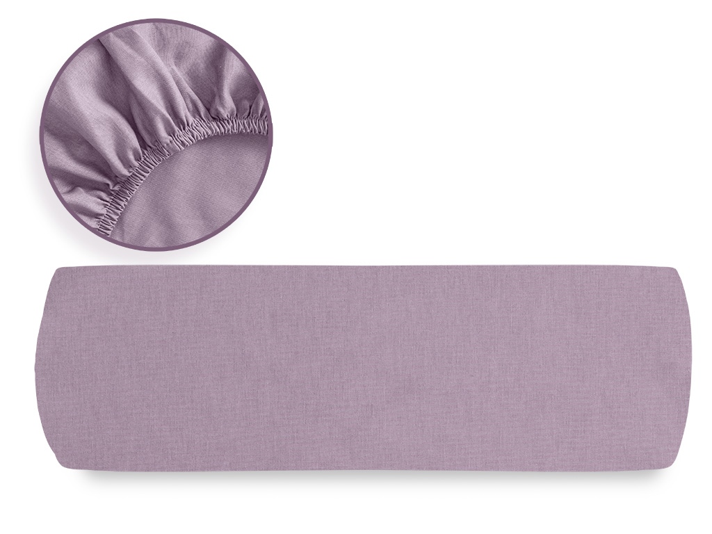 Plain Cotton King Size Fitted Bed Sheet 200x200 Cm Urban Purple