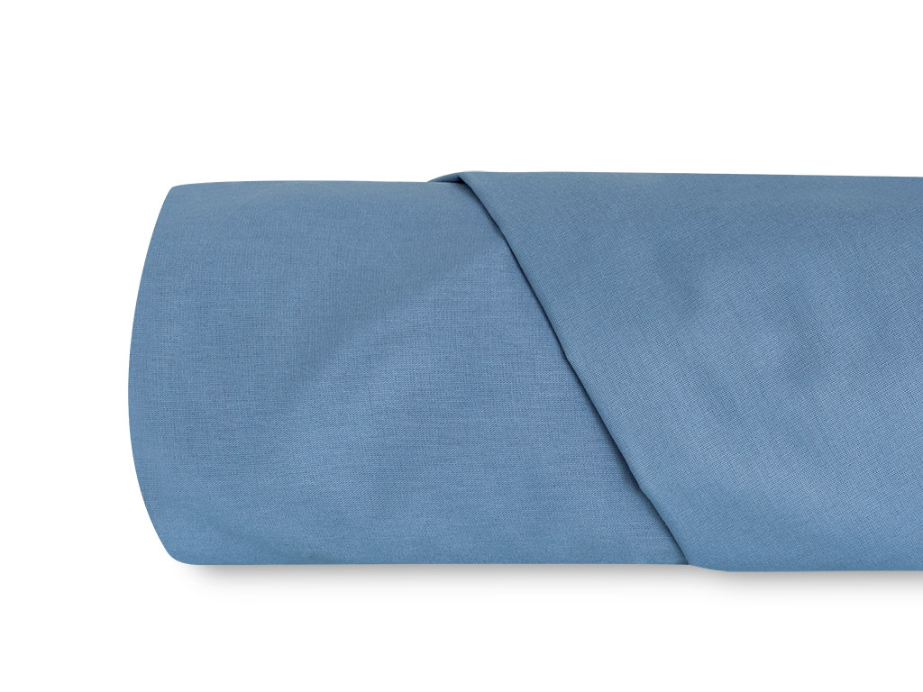 Plain Cotton Bed Sheet Single Size 160x240 Cm Blue