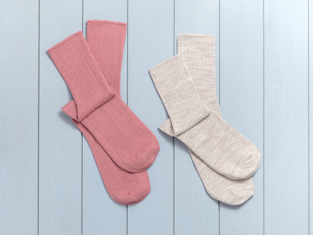Sleep Well 2 Piece Socks 36-38 Cinnamon-Beige