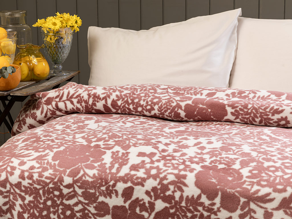 Liberty Cotton Blanket Single Size 150x200 Cm Pink