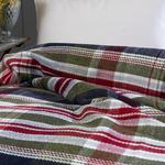 Salford Scotch Blanket Double Size 200x220 Cm Navy