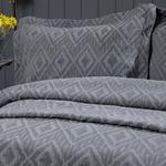 Diamond Chic Stonewash Multipurpose Bedspread Set Double Size 240x250 Cm Grey
