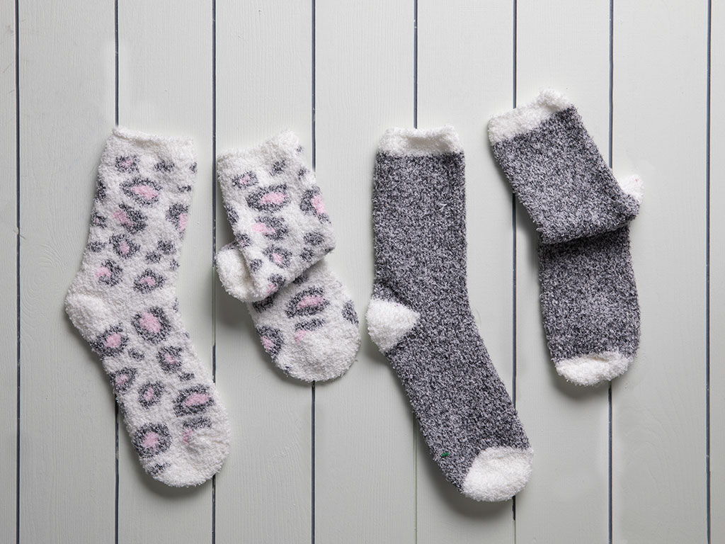 Leo Women's Socks 2 Piece 36-38 Gray