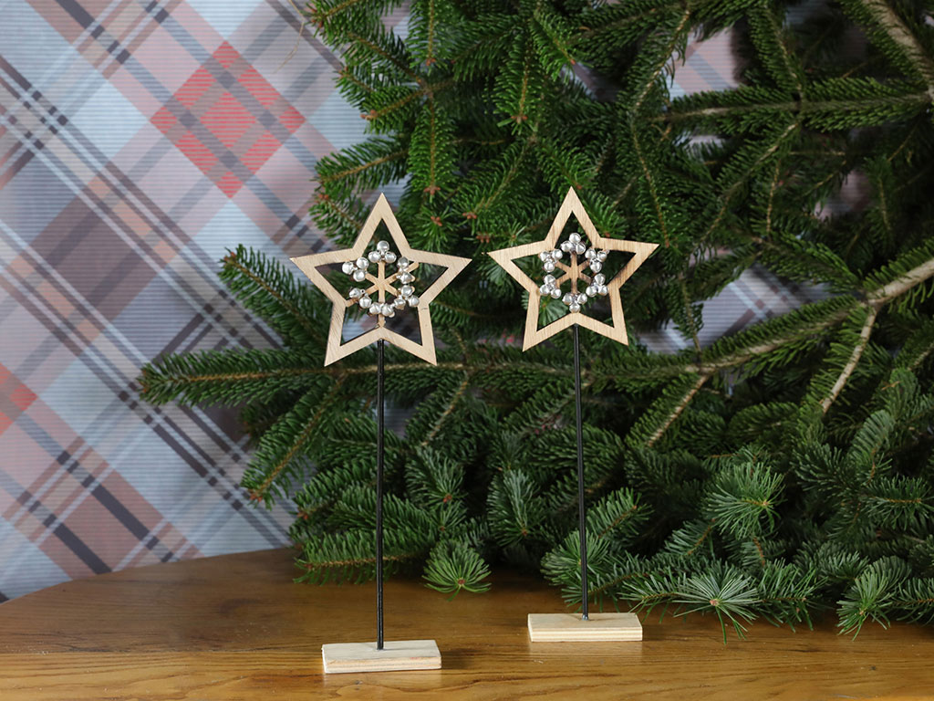 Star Christmas Accessory 11,5x4,3x29,8 Cm Natural