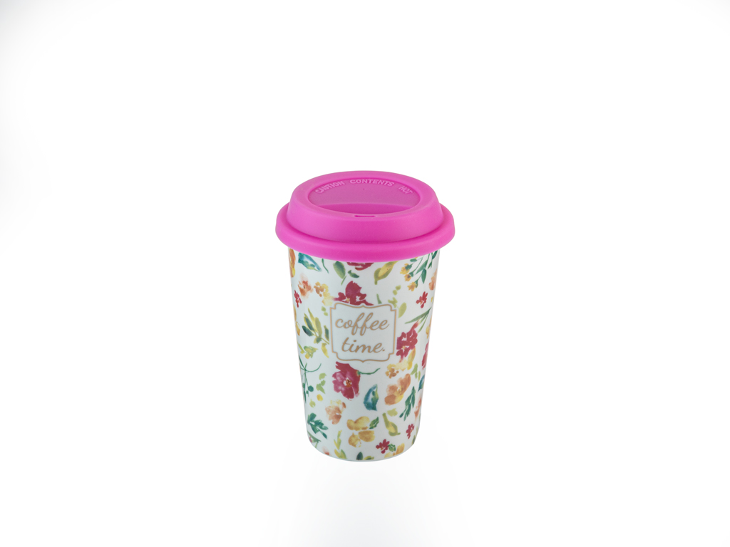 Alicia New Bone Travel Mug 350 Ml Dark Pink