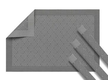 Rustic Elegance Pvc Place Mat 4 Piece 30x45 Cm Light Gray