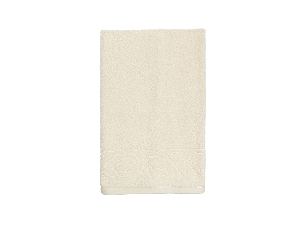 Rosa Stripe Jacquard Face Towel 50x76 Cm Cream