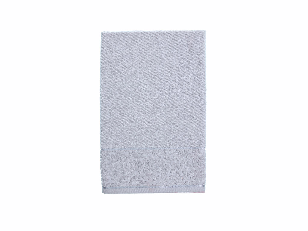 Rosa Stripe Jacquard Face Towel 50x76 Cm Light Grey