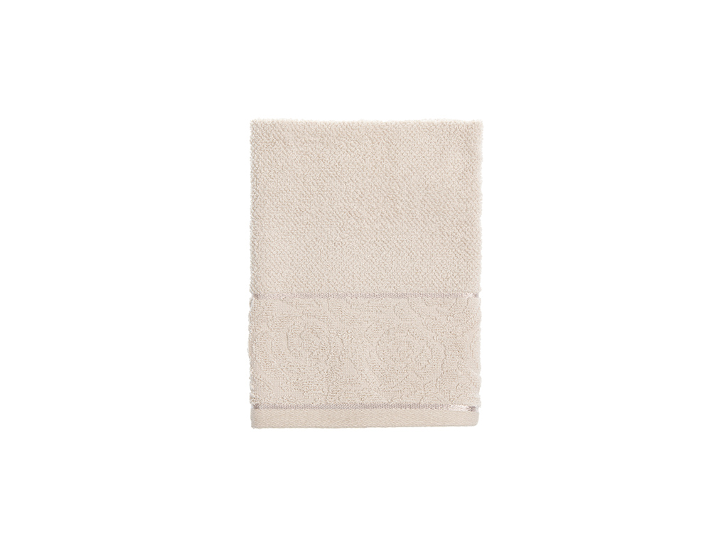 Rosa Stripe Jacquard Hand Towel 30x40 Cm Light Beige