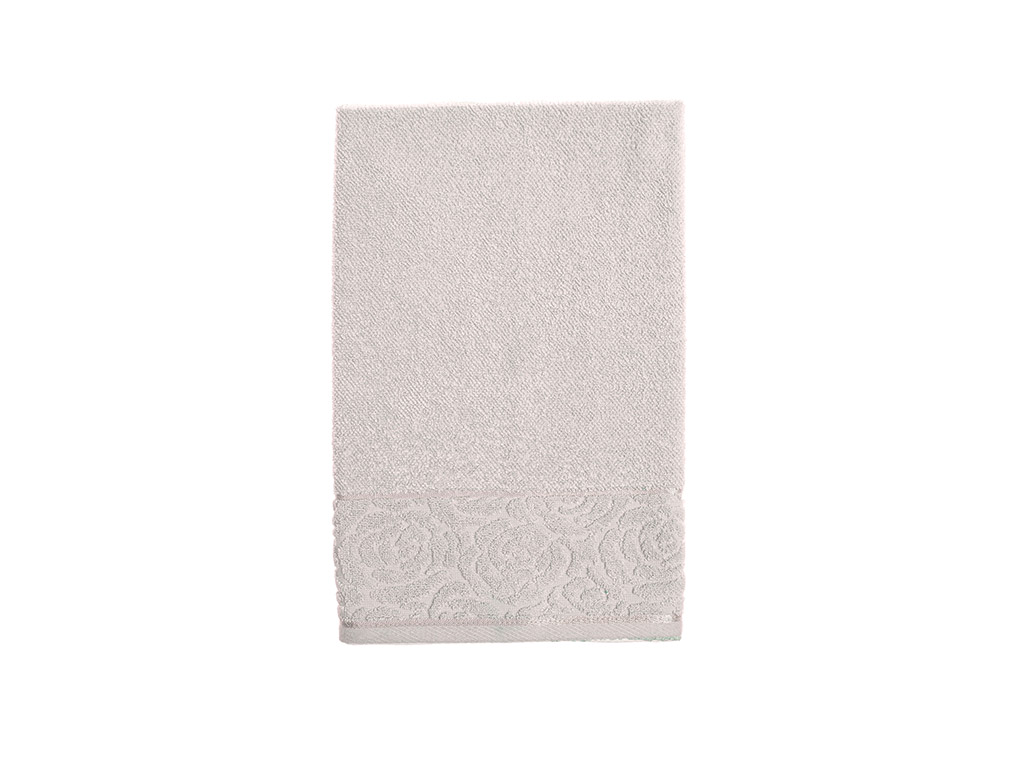 Rosa Stripe Jacquard Face Towel 50x76 Cm Light Beige