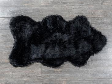 Lena Fake Fur Carpet 80x150 Cm Black
