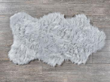 Lena Fake Fur Carpet 80x150 Cm Light Gray