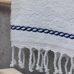 Rope Face Towel 50x80 cm Navy Blue