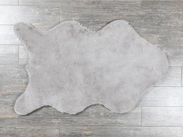 Rabbit Fake Fur Carpet 90x150 Cm Gray