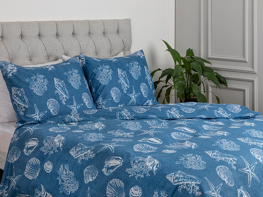 Deep Sea Duvet Cover Set Pack 200x220 cm Blue