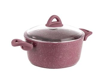 Pure Granit Cooking Pot 20 Cm Maroon