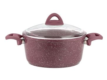 Pure Granit Cooking Pot 24 Cm Maroon