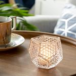 Pointtouch Glass Candle Holder 8,2x8,2x6,6 Cm Transparent
