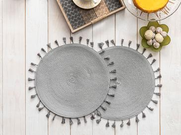 Freda Place Mat 2 Piece 35 Cm Gray