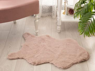 Rabbit Fake Fur Carpet 60x90 Cm Powder