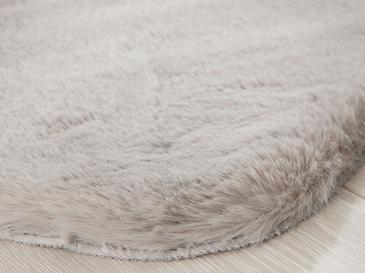Rabbit Fake Fur Carpet 60x90 Cm Gray