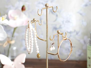Seana Metal Jewelry Holder 14,5x11,7x27,2 Cm Gold