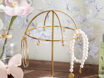 Zen Metal Jewelry Holder 15,5x13,9x20,9 Cm Gold