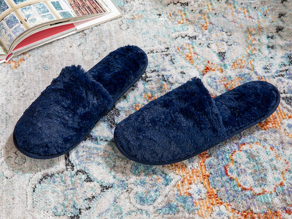 Pando Women's Home Slippers 39-41 Navy Blue