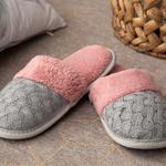 Knit Women's Home Slippers 39-41 Gray