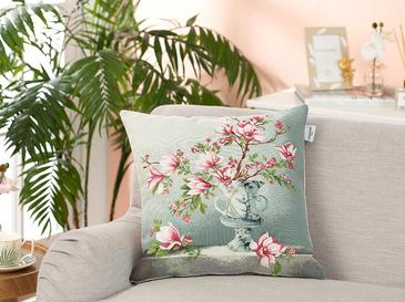 Magnolia Spring Cushion Cover 45x45 Cm Gray