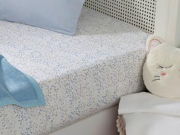 Mini Dots Cotton Baby Fitted Bed Sheet 70x140 Cm Blue