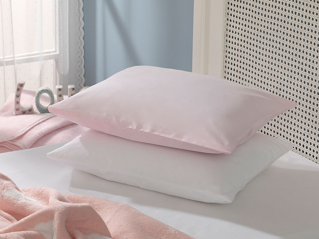 Soft Cotton Baby Pillowcase 35x45 Cm Pink