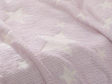 Baby Stars Jacquard Baby Summer Blanket 80x120 Cm Lilac