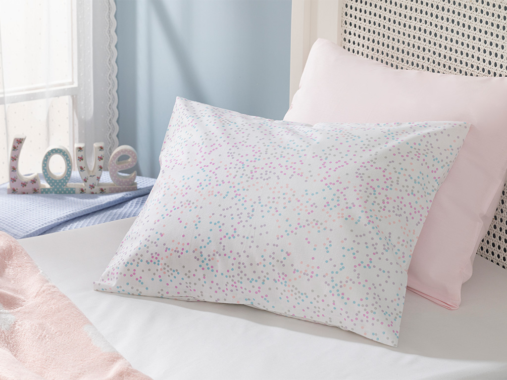 Mini Dots Cotton Baby Pillow Case 35x45 Cm Pink