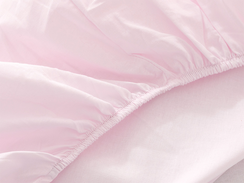 Soft Cotton Baby Fitted Bed Sheet 70x140 Cm Pink