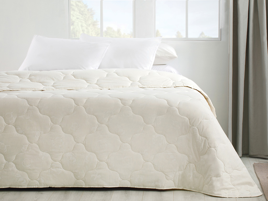 Comfy Cotton Quilt Single Size 155x215 Cm White