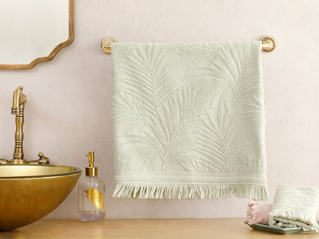 Palm Island Jacquard Face Towel 50x76 Cm Green