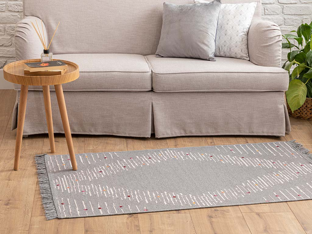 Display Cotton Rug 80x150 Cm Light Grey