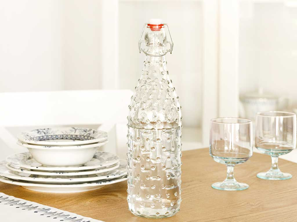 Rosalie Glass Bottle 1100 Ml Transparent