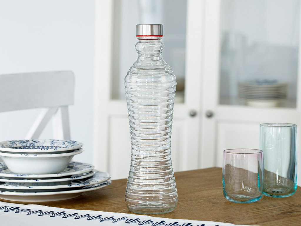 Mila Glass Bottle 1100 Ml Transparent